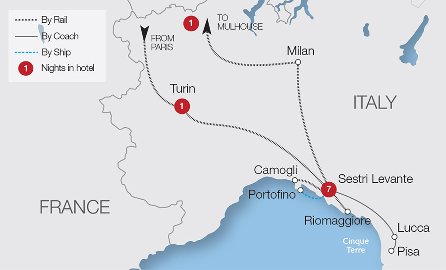 Italian Riviera Tour Great Rail Journeys