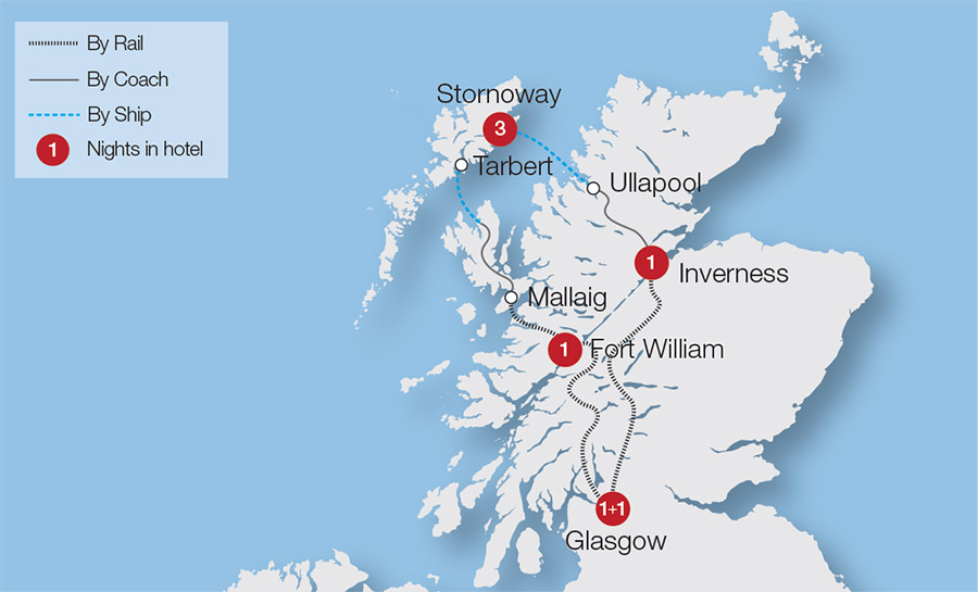 Train Routes In Scotland Map.Scotland Train Tours Rail Tours Great Rail Journeys