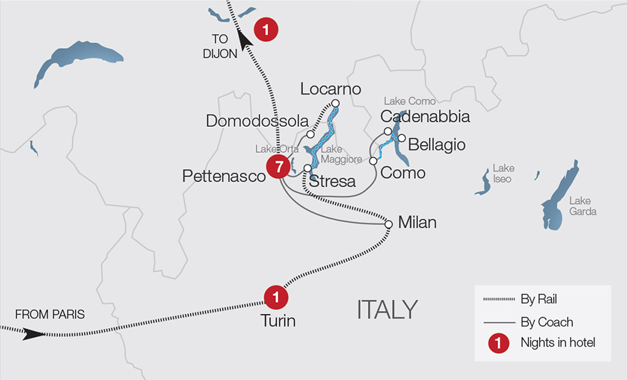 Railroad Map Of Italy.Italy Rail Tours Escorted Tours Trips Great Rail Journeys