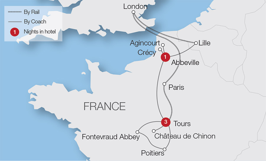 Map Of France Over Time.The Plantagenets In France Tour Great Rail Journeys