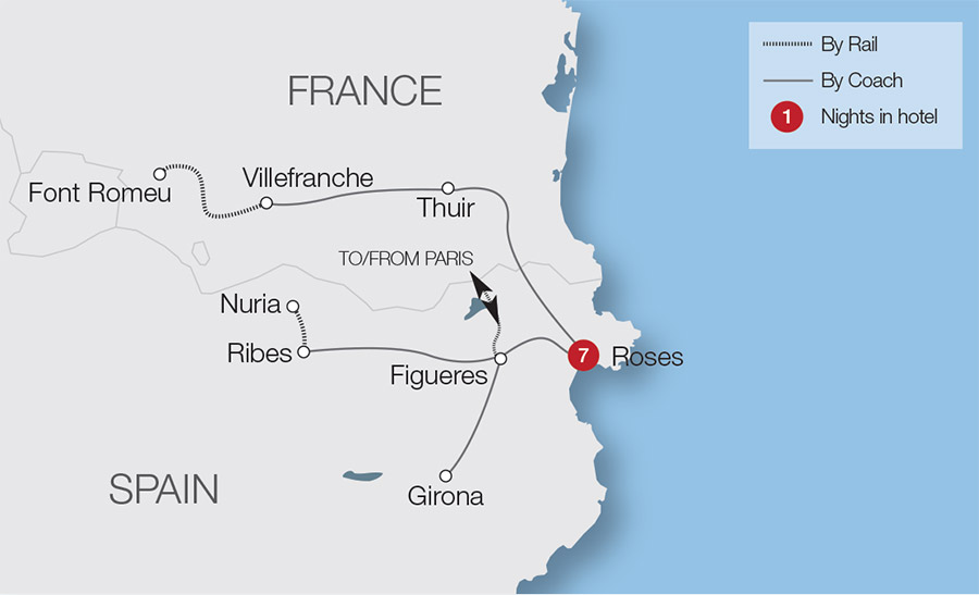 Map Of South West France And Northern Spain.Spain Train Holidays Rail Tours Great Rail Journeys