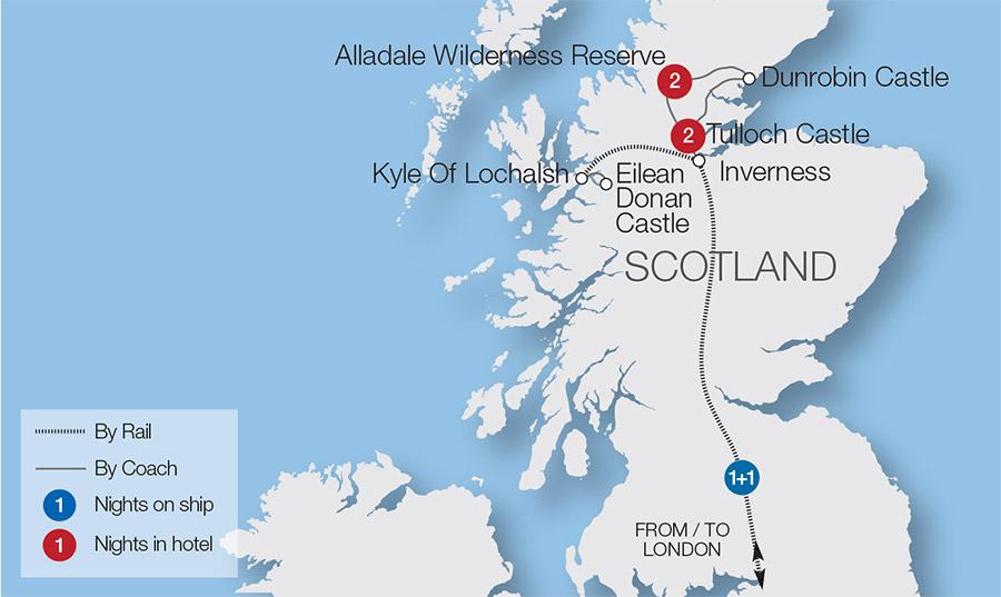 Castles and Wildlife of Scotland Rail Tour | Great Rail Journeys on