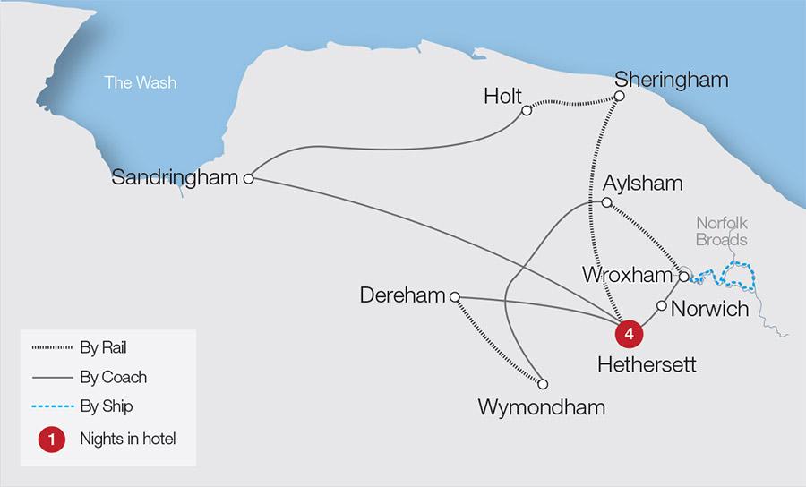 Norwich & the Norfolk Broads Tour | Great Rail Journeys