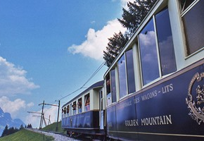 A tasty treat aboard Switzerland's Chocolate Train.
