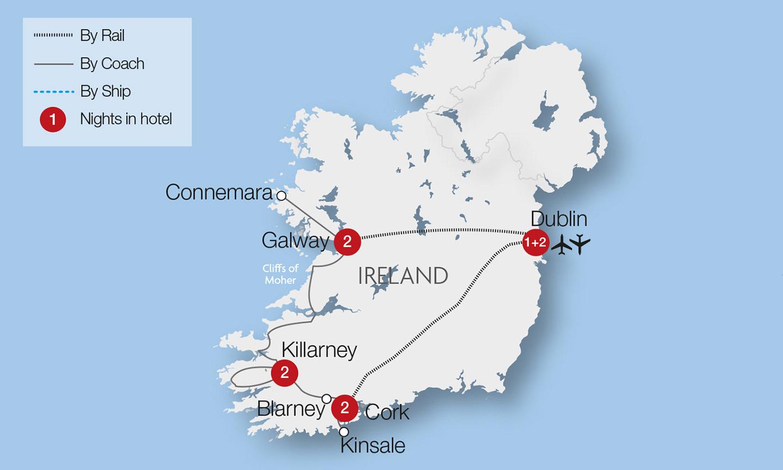 Blarney Ireland Map.Blarney Castle Train Tours Tours Great Rail Journeys