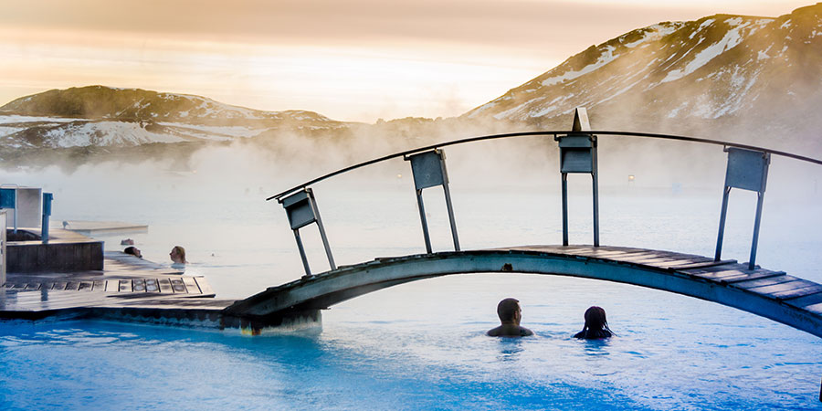 Thermal pool Iceland