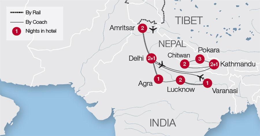 Grand Tour Of India Nepal Tour Great Rail Journeys