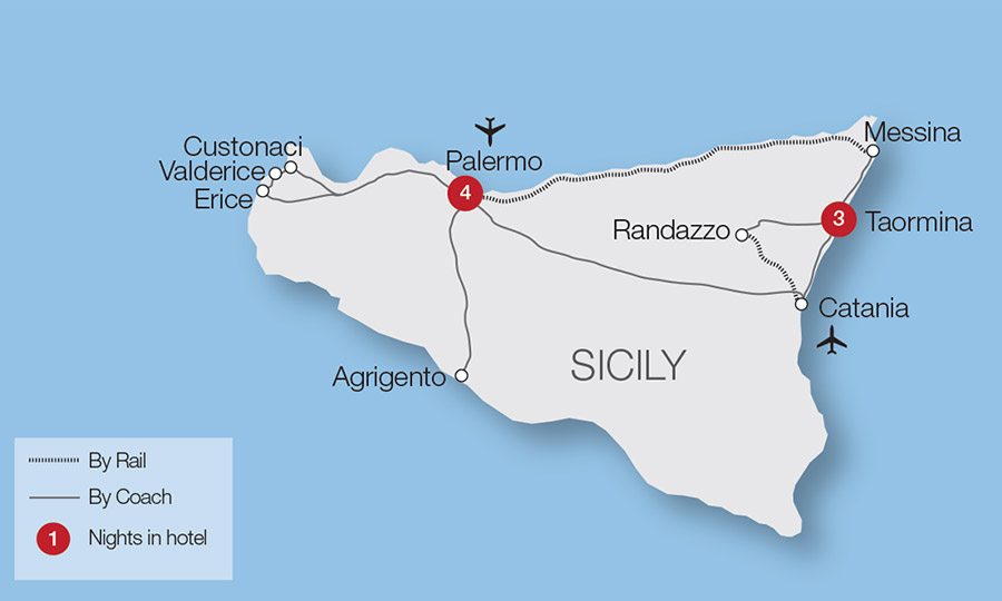 Christmas in Sicily Tour | Great Rail Journeys