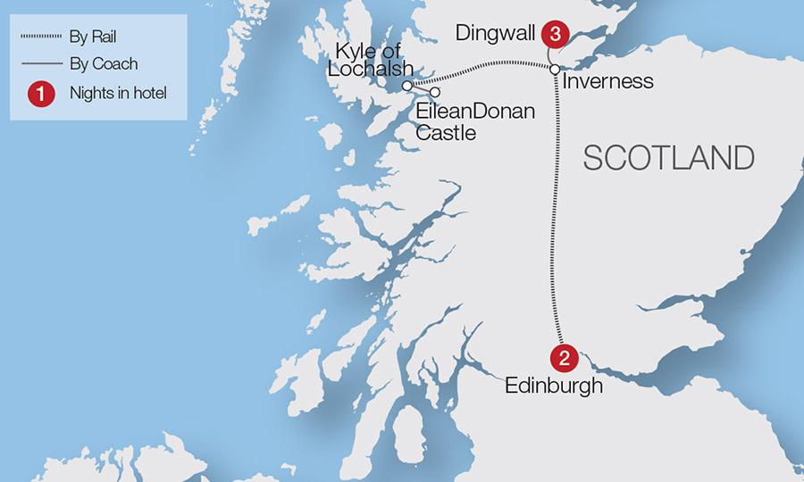Scottish Castles at Christmas | Great Rail Journeys on