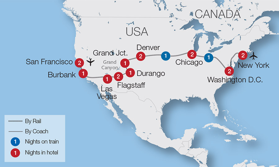 North American Rail Tours - Escorted Tours & Trips | Great Rail Journeys