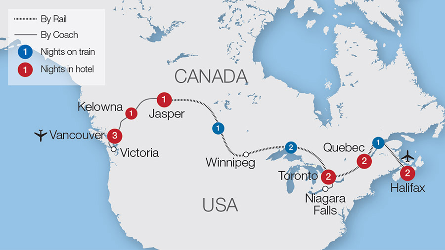 Canada Coast to Coast Tour | Great Rail Journeys on