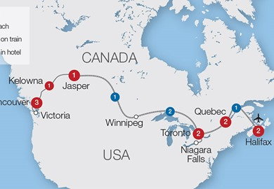 Canada Coast to Coast rail tour