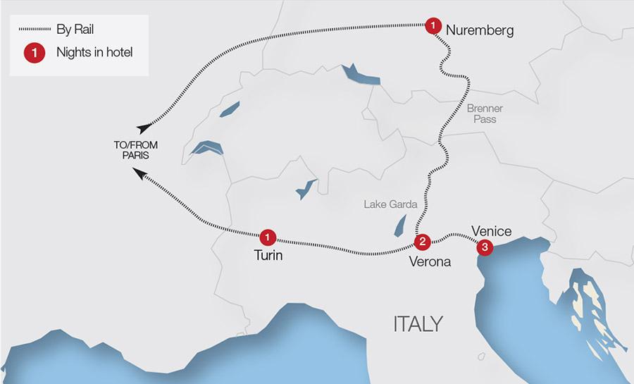 Turin Train Holidays & Rail Tours   Great Rail Journeys