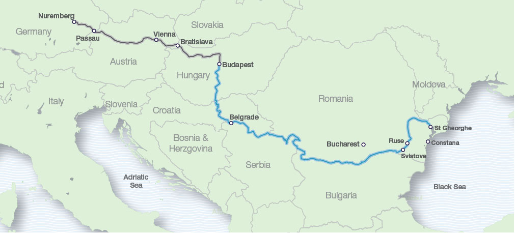 Eastern European Rivers map