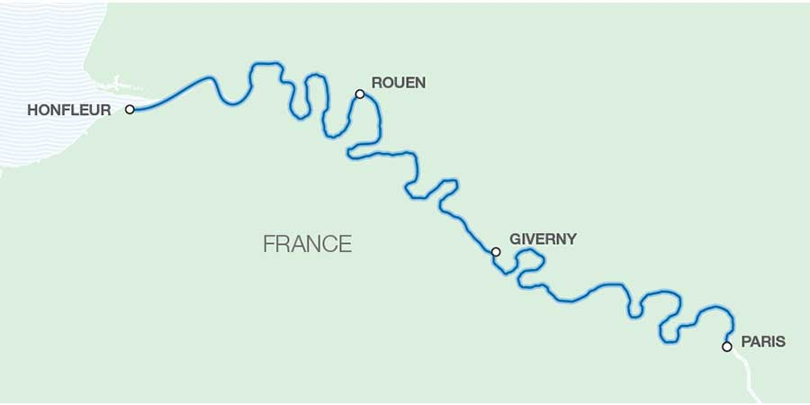 Map of the River Seine