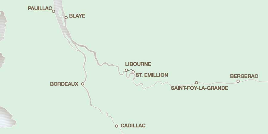 The Dordogne River map