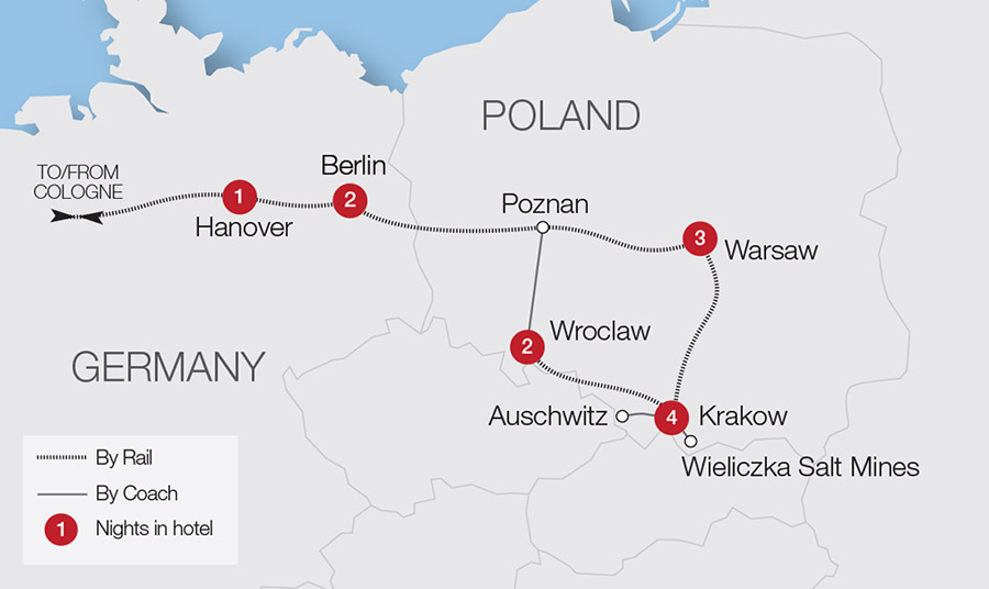 Map Of Germany Krakow.Discover Poland Tour Great Rail Journeys