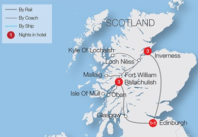Edinburgh, Highlands & Islands