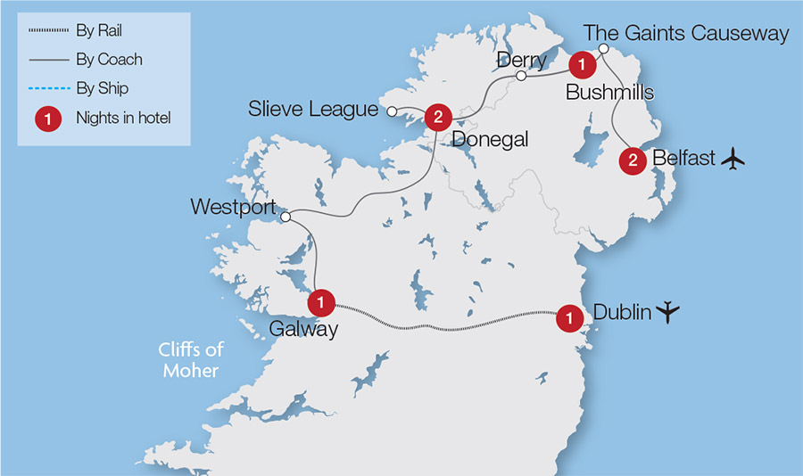 Map Of Ireland Giants Causeway.The Giant S Causeway And Ireland S North Great Rail Journeys